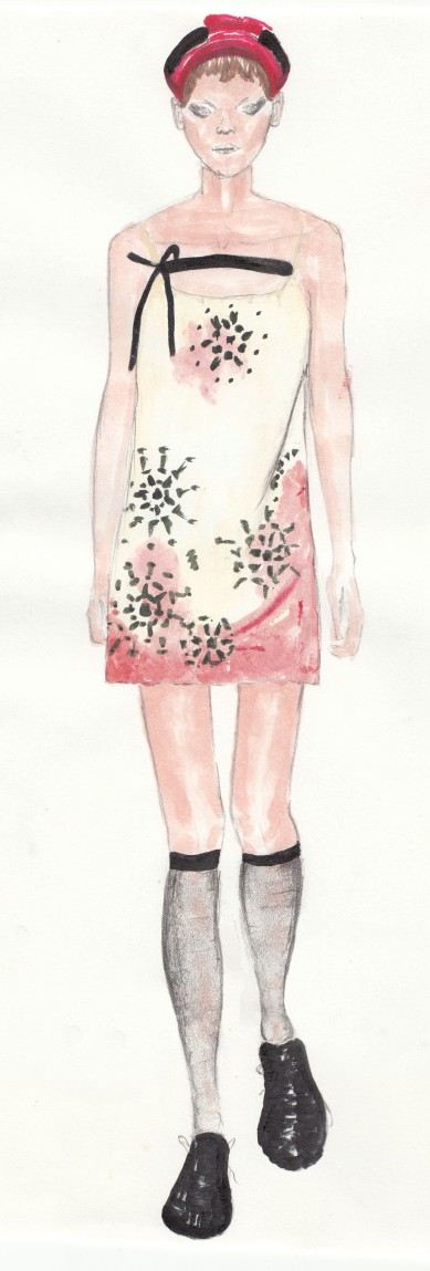 Prada SS/19 Created using watercolor, marker, and colored pencil