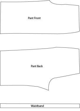 Pant pattern pieces